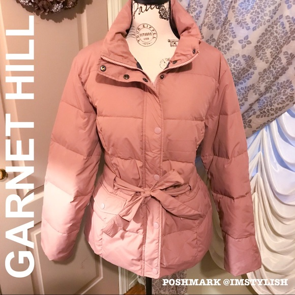Garnet Hill Jackets & Blazers - 🆕 SALE! Garnet Hill Belted Down Jacket Puffer